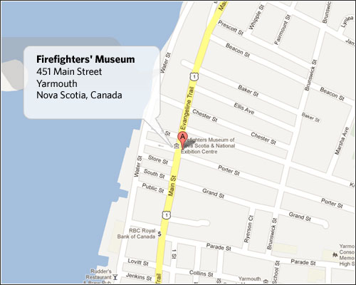 Firefighters' Museum Map